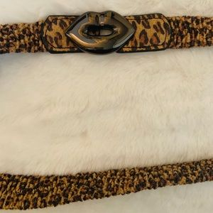 Betsey Johnson Leopard Belt